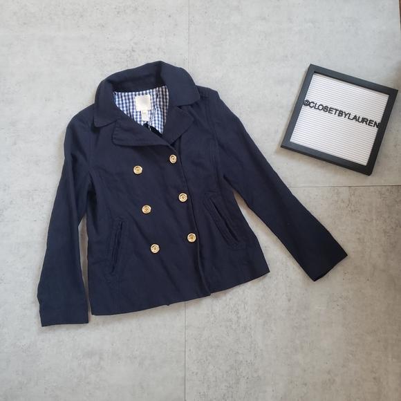 J. Crew Jackets & Blazers - J. Crew Navy Double Button Jacket Blazer